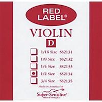 Super Sensitive Red Label Violin D String  1/2