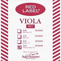Super Sensitive Red Label Viola String Set  Intermediate