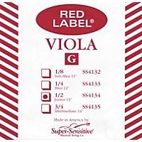Super Sensitive Red Label Viola G String Mini (12-In.)