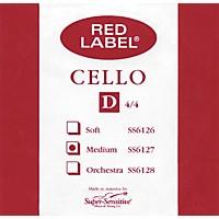 Super Sensitive Red Label Cello D String  4/4