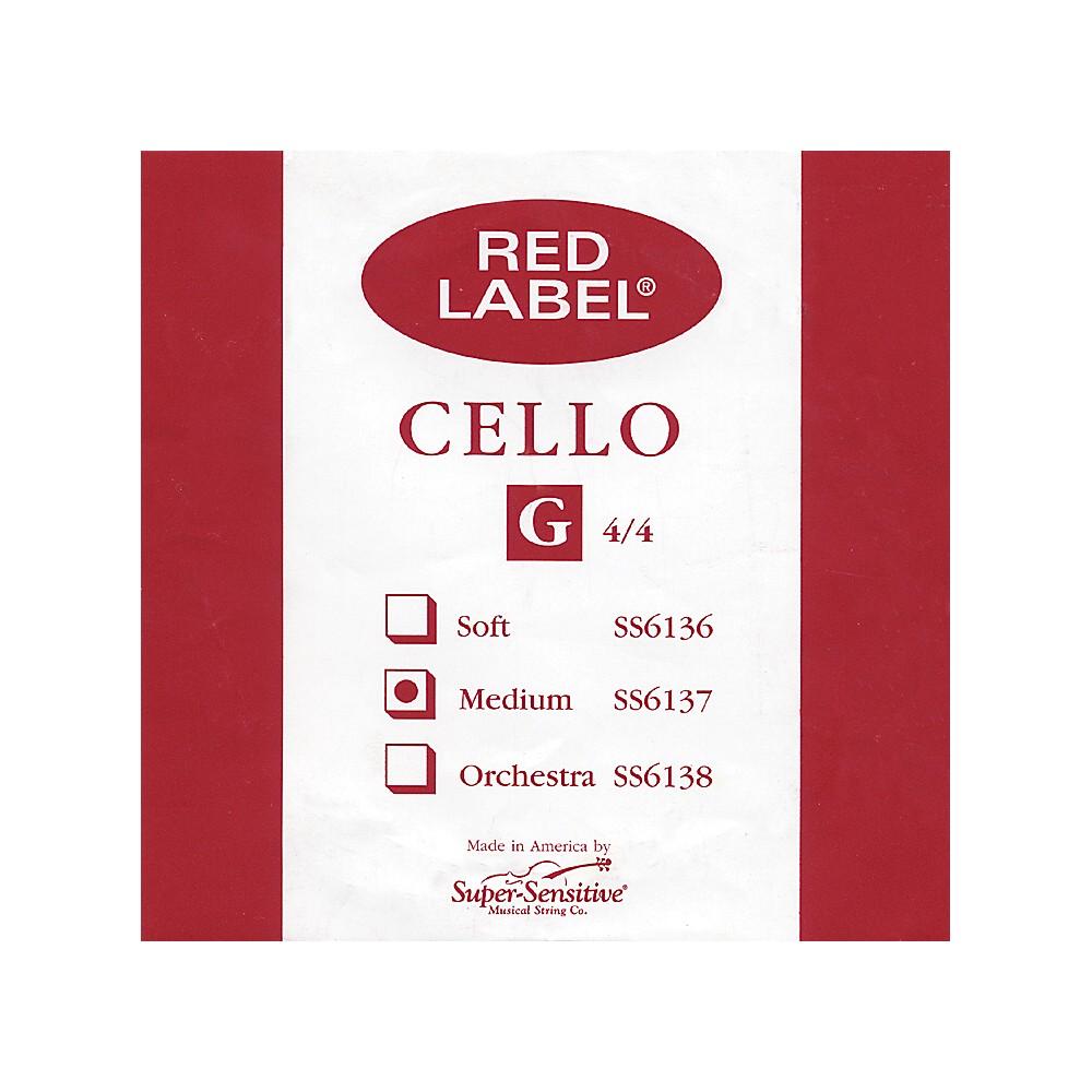 Super Sensitive Red Label Cello G String  4/4 1274228070999