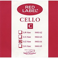 Super Sensitive Red Label Cello C String  1/2