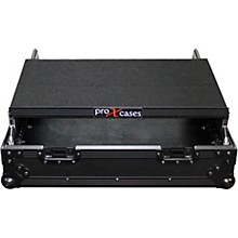 "ProX 10U Top Mount 19"" Slanted Black on Black Mixer Case"