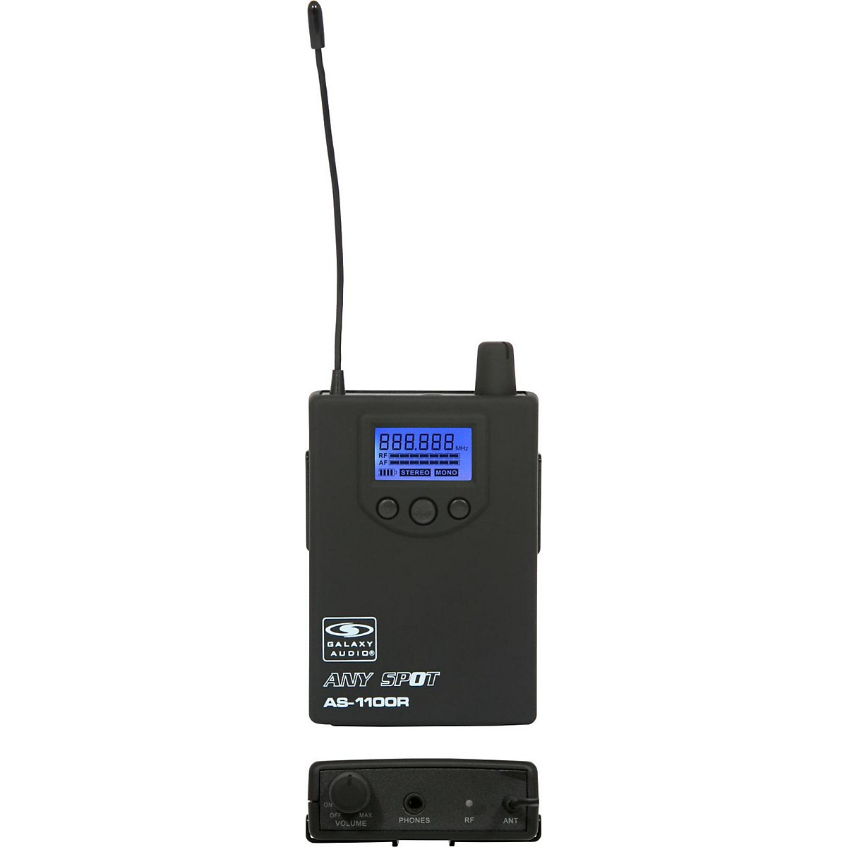 Galaxy Audio 1100 SERIES Wireless In-Ear Monitor Receiver  Frequency with EB6 Earbuds
