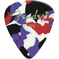 Fender Classic Celluloid Confetti Guitar Pick 12-Pack Medium 1 Dozen