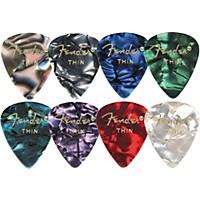 Fender 351 Premium Celluloid Guitar Picks Abalone Heavy