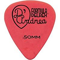 D'andrea Delrex Delrin Guitar Picks One Dozen Red .50 Mm