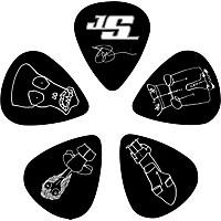 D'addario Planet Waves Joe Satriani Signature Guitar Picks 10-Pack Black Thin