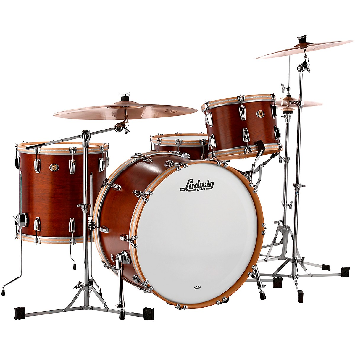 Ludwig 110th Anniversary Legacy Mahogany Van Buren Pro Beat Shell Pack with 24