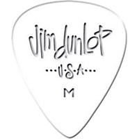 Dunlop Celluloid Classic Guitar Picks 1 Dozen White Medium