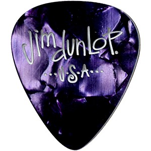 Dunlop Premium Celluloid Classic Guitar Picks 1 Dozen Purple Pearloid Thin
