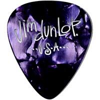 Dunlop Premium Celluloid Classic Guitar Picks 1 Dozen Purple Pearloid Medium