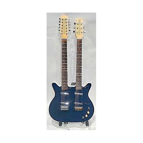 used danelectro 12 6 doubleneck hollow body electric guitar blue to black fade guitar center. Black Bedroom Furniture Sets. Home Design Ideas