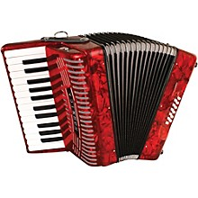 Hohner 12 Bass Entry Level Piano Accordion Level 1 Red