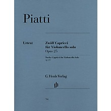 G. Henle Verlag 12 Capricci Op. 25 (Cello Solo) Henle Music Folios Series Softcover