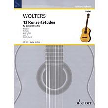 Schott 12 Concert Etudes Op. 41 (for Solo Guitar) Guitar Series Softcover