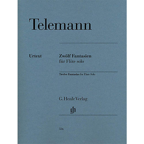 G. Henle Verlag 12 Fantasias for Flute Solo TWV 40:2-13 Henle Music Softcover Composed by Telemann Edited by Marion Beyer