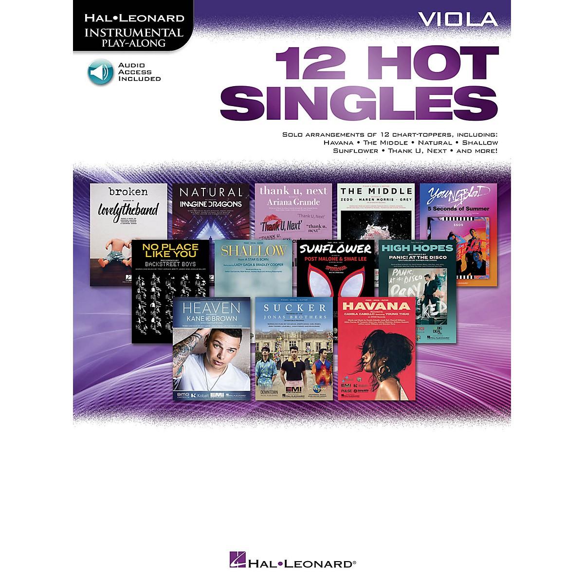 Hal Leonard 12 Hot Singles for Viola Instrumental Play-Along Book/ Audio Online
