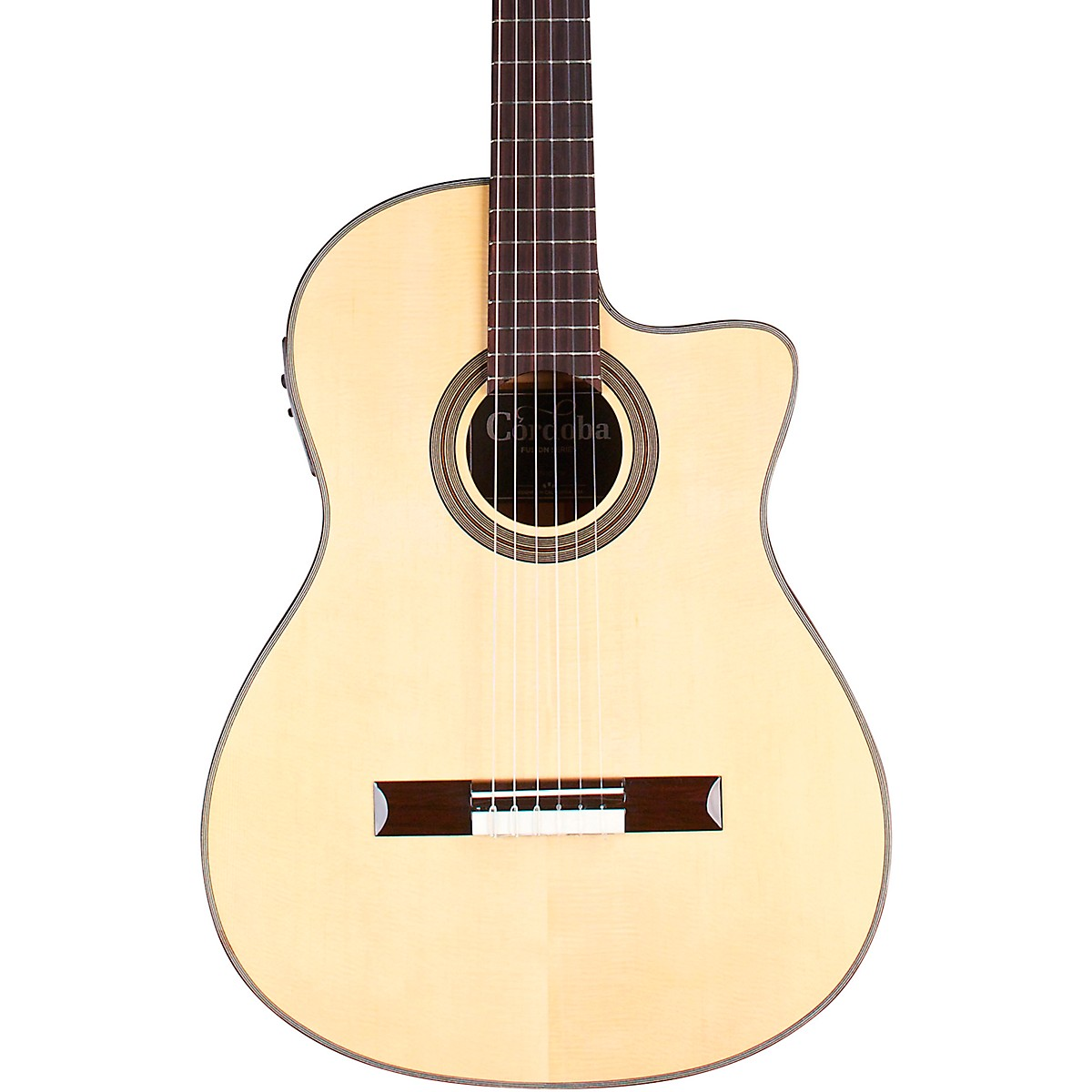 Cordoba 12 Natural Spruce Top Classical Acoustic-Electric Guitar