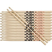 12-Pair American Classic Hickory Drumsticks Wood 5A