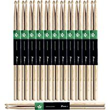 12-Pair American Hickory Drum Sticks Wood Tip 5B