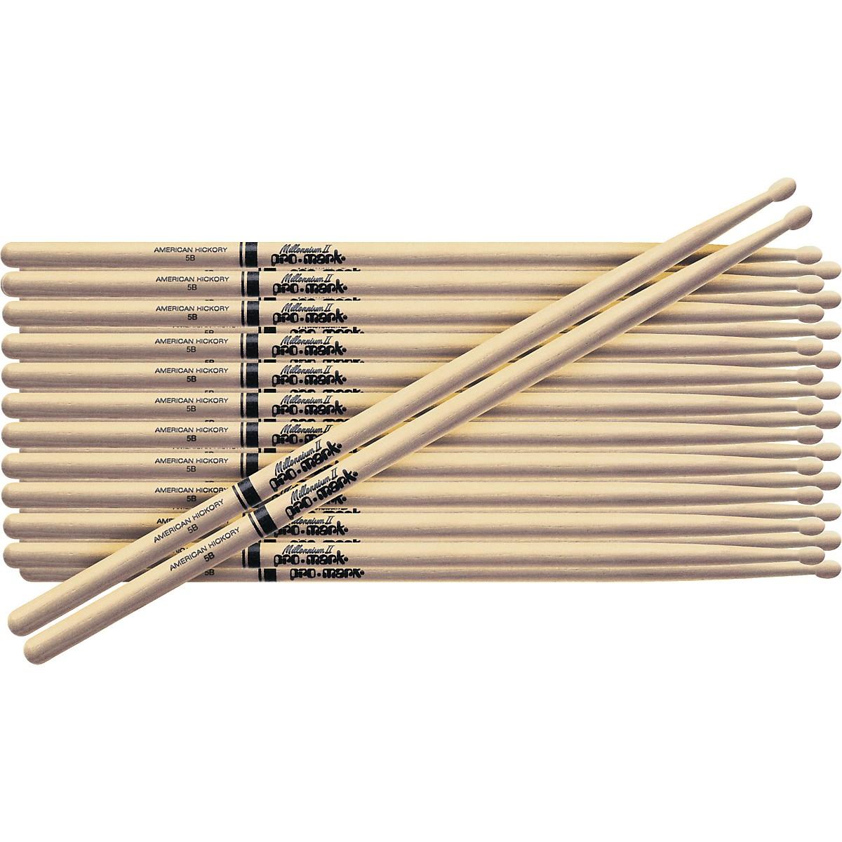 Promark 12-Pair American Hickory Drumsticks