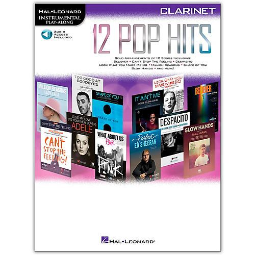 Hal Leonard 12 Pop Hits for Clarinet Book/Audio Online