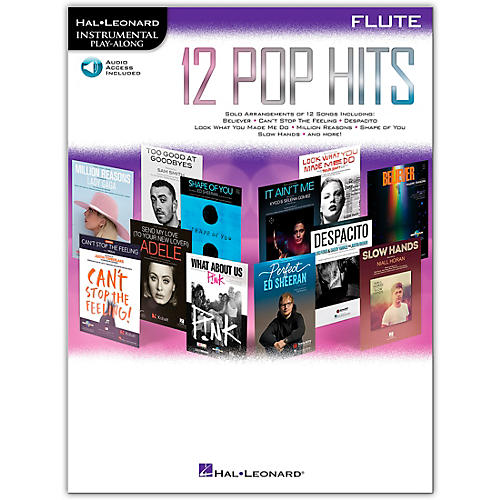 Hal Leonard 12 Pop Hits for Flute Book/Audio Online