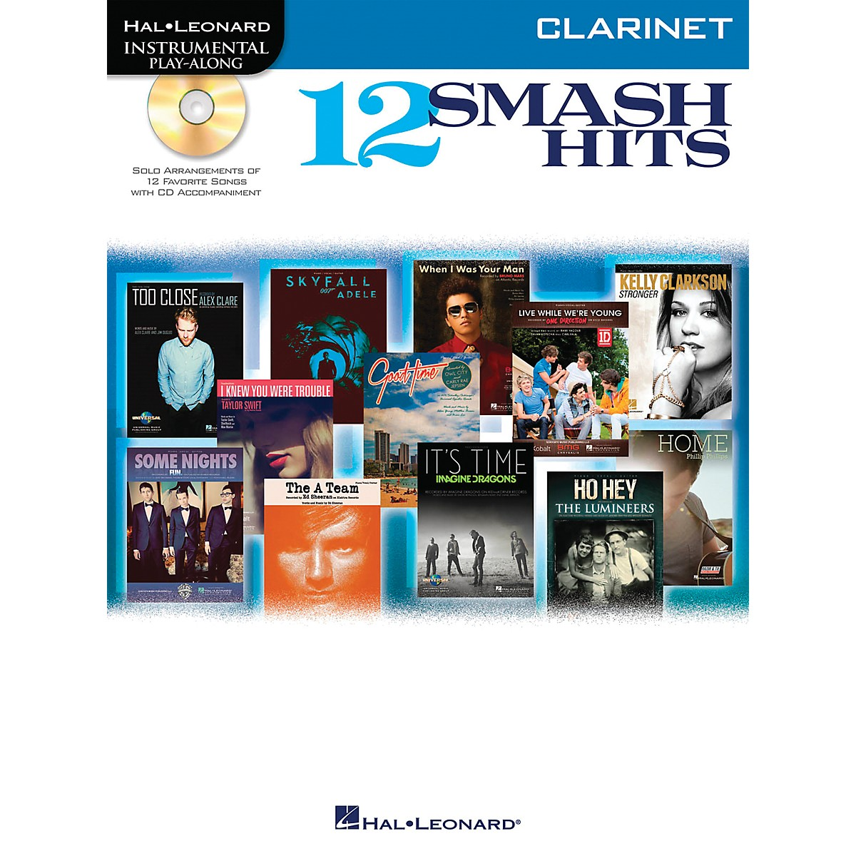 Hal Leonard 12 Smash Hits for Clarinet - Instrumental Play-Along Book/CD