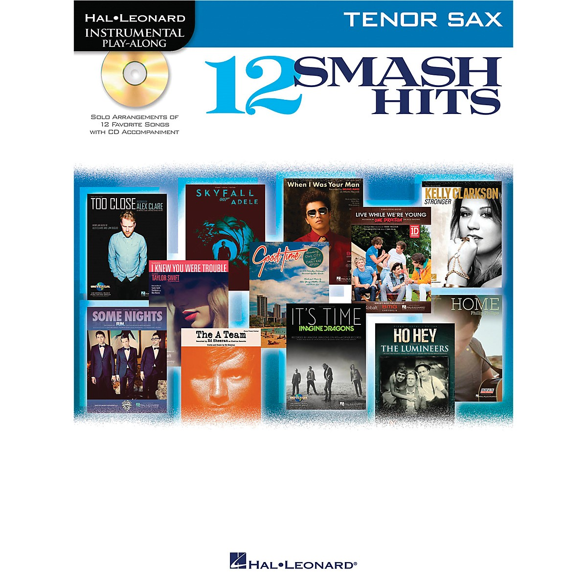 Hal Leonard 12 Smash Hits for Tenor Sax - Instrumental Play-Along Book/CD