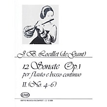 Editio Musica Budapest 12 Sonatas for Recorder (Flute) and Basso Continuo Op. 1 Volume 2 EMB by Jean Baptiste (de Gant) Loeillet