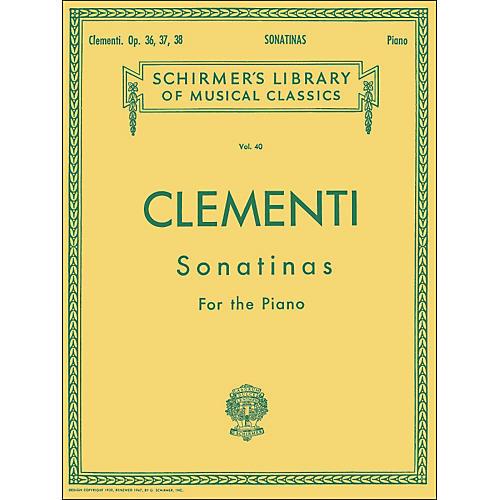 G. Schirmer 12 Sonatinas Op 36 37 38 Piano By Clementi