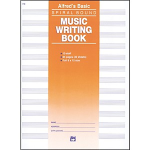 Alfred 12 Stave Music Writing Book 9 x 12 by Alfred