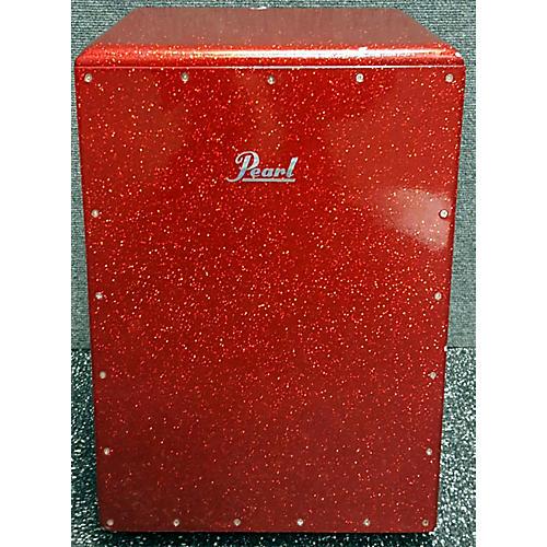 Pearl 12.5in Boom Box Red Sparkle Cajon Cajon