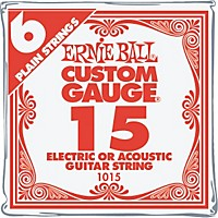 Ernie Ball Nickel Plain Single Guitar String .015 Gauge 6-Pack