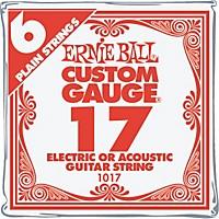 Ernie Ball Nickel Plain Single Guitar String .017 Gauge 6-Pack