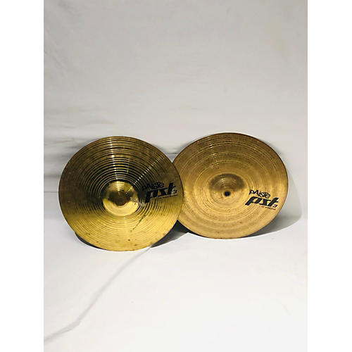 used paiste 13in pst3 hi hat pair cymbal 31 guitar center. Black Bedroom Furniture Sets. Home Design Ideas