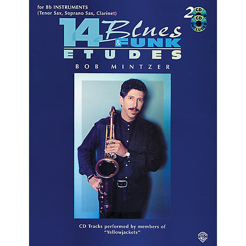 Alfred 14 Blues & Funk Etudes for B-Flat Instruments Book/2 CDs