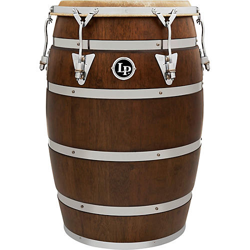 LP 14 In. Siam Oak Barril De Bomba with Chrome Plated Hardware