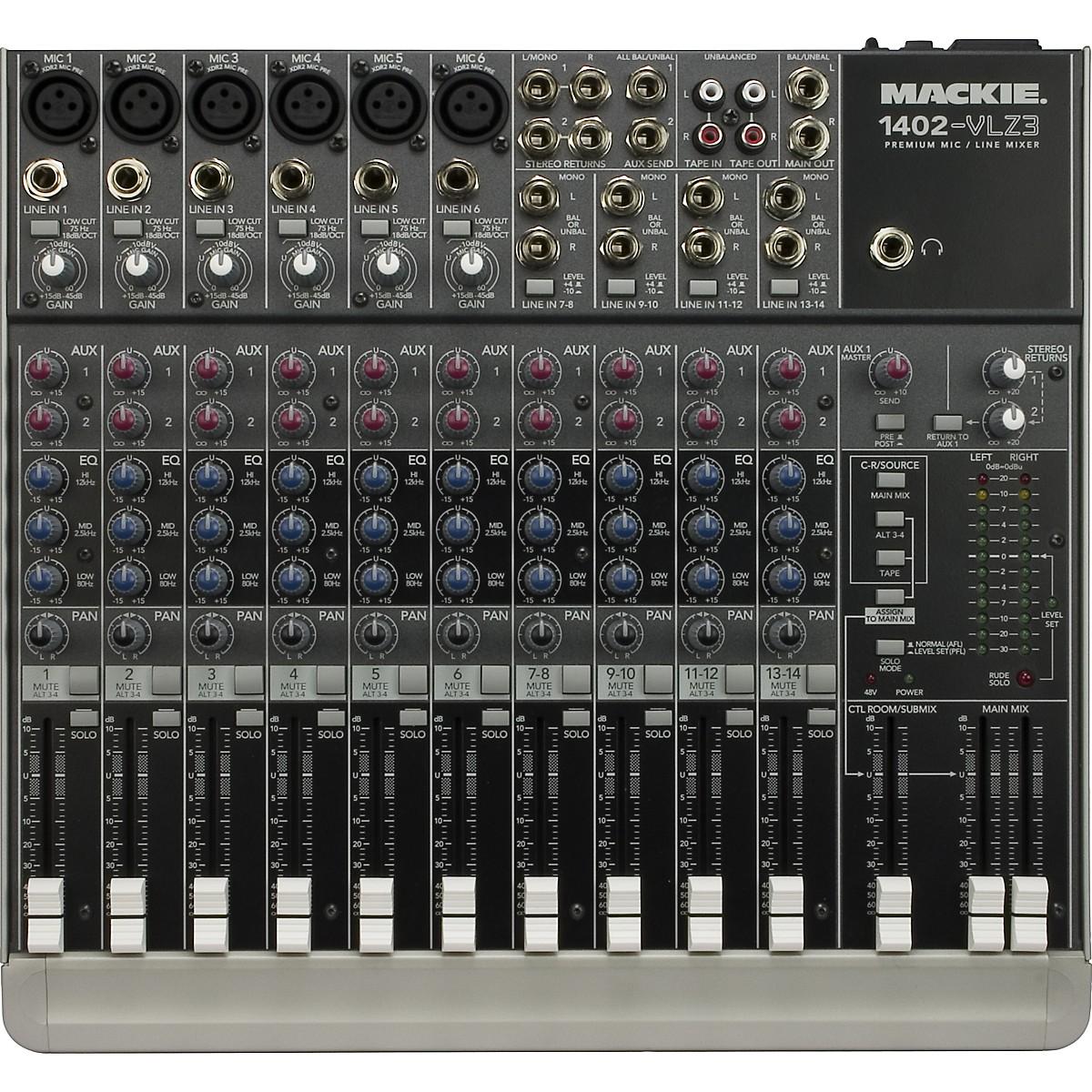 Mackie 1402-VLZ3 Premium 14-Channel Compact Mixer