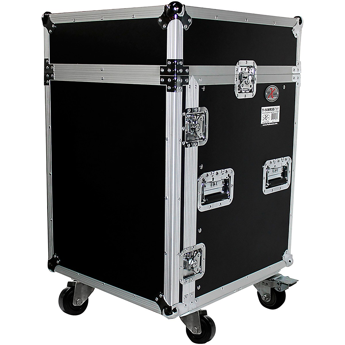 ProX 14U Rack x 10U Top Mixer DJ Combo Flight Case