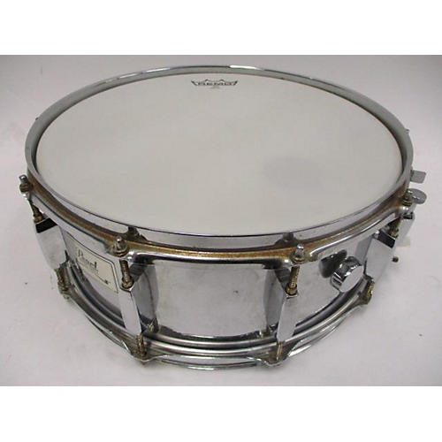Pearl 14X10 Steal Shell Snare Drum