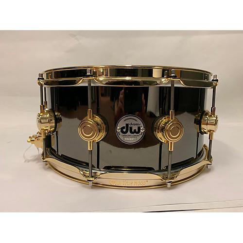 DW 14X6.5 COLLECTOR'S BLACK NICKLE OVER BRASS Drum