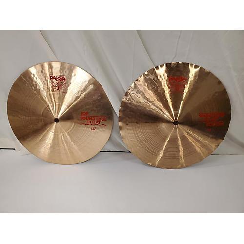 Paiste 14in 2002 Sound Edge Hi-Hat Pair Cymbal