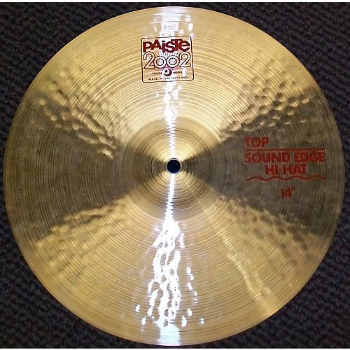 Paiste 14in 2002 Sound Edge Hi Hat Top Cymbal