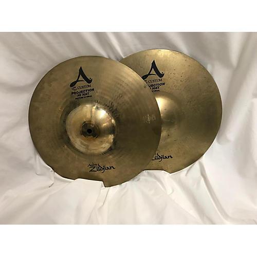 Zildjian 14in A CUSTOM PROJECTION HI HAT SET Cymbal