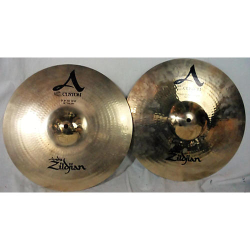 used zildjian 14in a custom hi hat pair cymbal 33 guitar center. Black Bedroom Furniture Sets. Home Design Ideas
