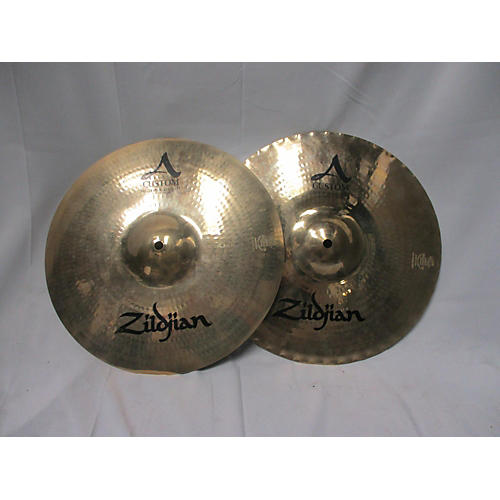 used zildjian 14in a custom mastersound hi hat pair cymbal 33 guitar center. Black Bedroom Furniture Sets. Home Design Ideas