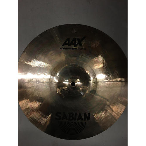 used sabian 14in aax x celerator hi hat pair cymbal 33 guitar center. Black Bedroom Furniture Sets. Home Design Ideas