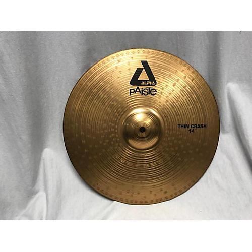 Paiste 14in Alpha Thin Crash Cymbal